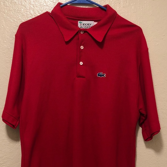 Lacoste Other - Izod Lacoste Men's Red Polo Shirt Large S/S